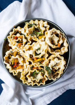 Pressure Cooker Vegetarian Lasagna Roll-Ups