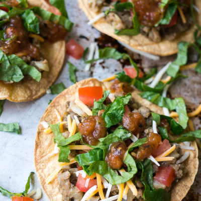 Pressure Cooker Lentil and Cauliflower Tostadas