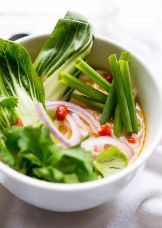 Pressure Cooker Thai Curry Vegetable Soup