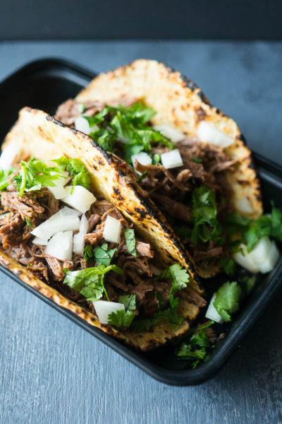 Pressure Cooker Adobo Beef Tacos