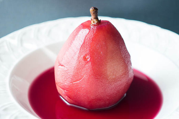 Pressure Cooker Red Wine Poached Pears