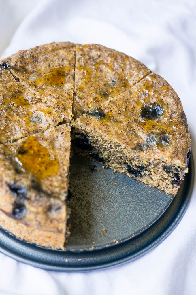 Blueberry Cornmeal Breakfast Cake
