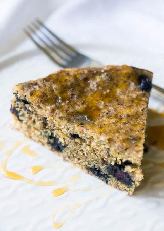 Pressure Cooker Blueberry Cornmeal Breakfast Cake