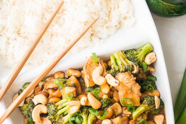 Pressure Cooker Cashew Chicken with Broccoli