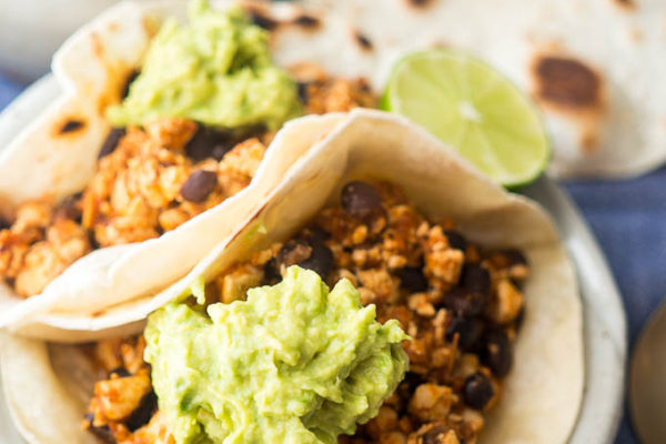 Pressure Cooker Adobo Sofritas Tacos