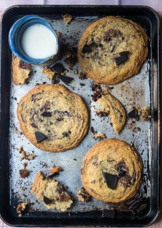 Wrinkly Crinkly Chocolate Chip Cookies