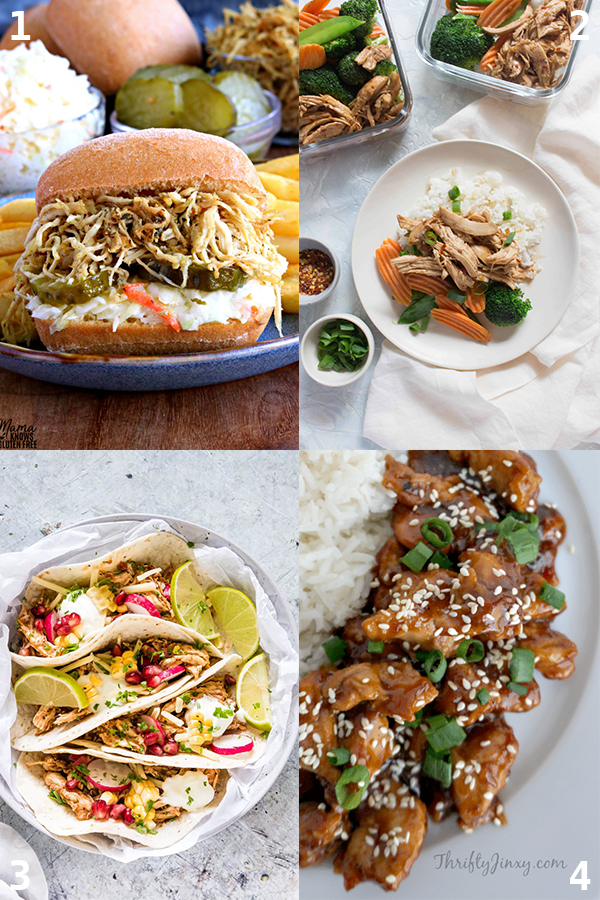 24 Pressure Cooker/Instant Pot Chicken Dishes in 15, 30, and 45 minutes!
