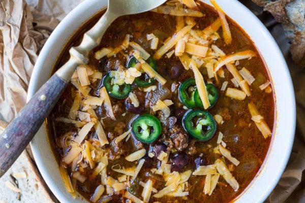 Pressure Cooker Mexican Chorizo Black Bean Chili