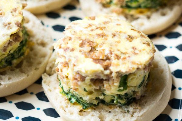 Pressure Cooker 5 Ingredient Breakfast Sandwiches