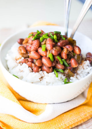 Pressure Cooker Vegetarian Red Beans and Rice