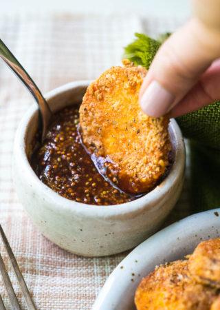 Crispy Parmesan Sweet Potato Rounds