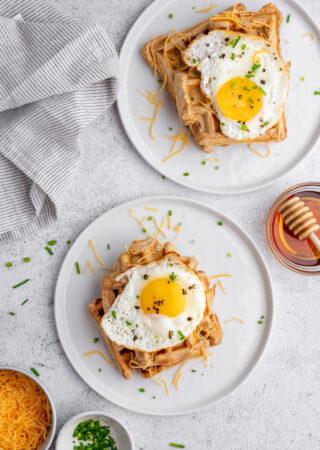 Savory Blender Waffles