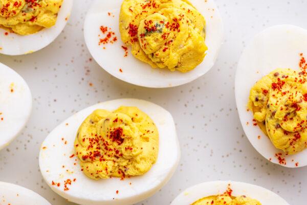 Pressure Cooker Best Deviled Eggs