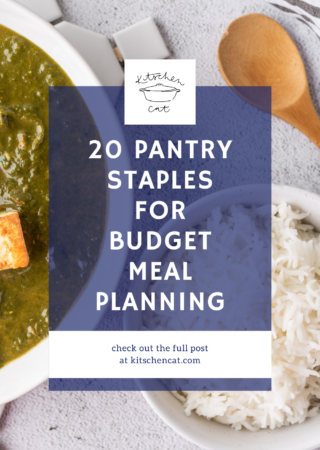 20 Pantry Staples For Budget Meal Planning